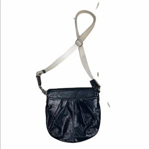 Coach dark blue pleated crossbody purse